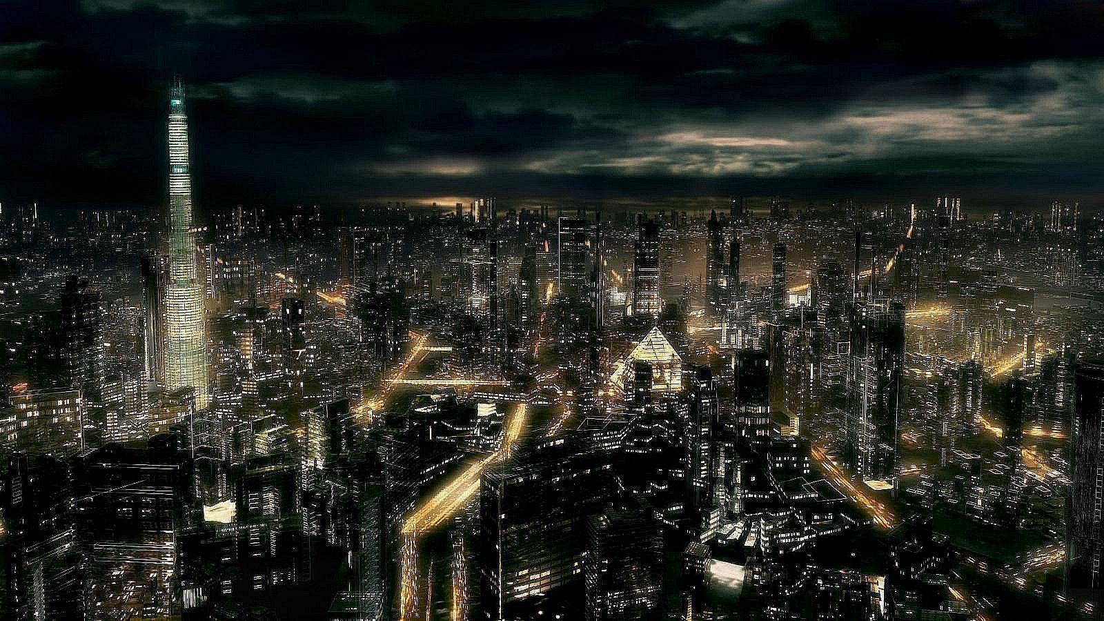 Dark City At Night Full Hd Wallpapers 1600x900PX ~ Wallpapers Hd