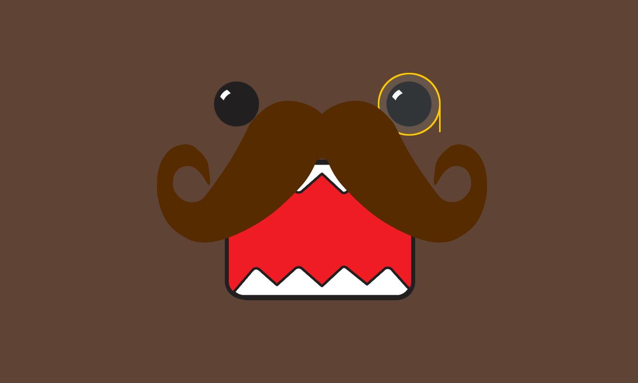 girly mustache background - photo #32