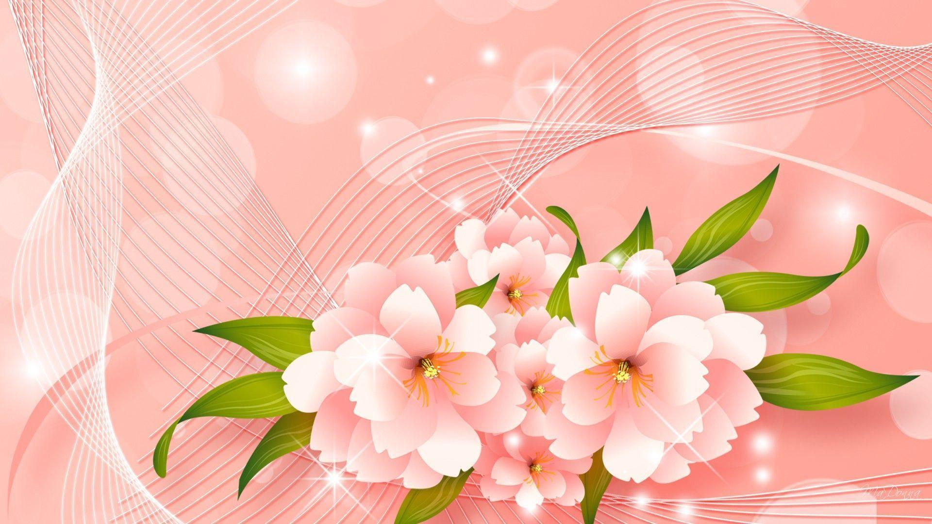 light pink floral background - photo #29