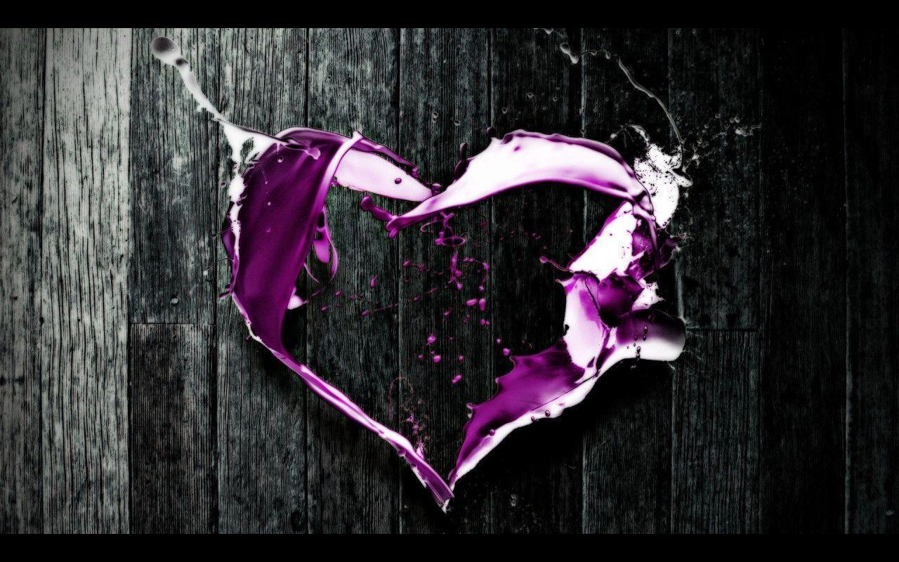 Cool Purple Iphone Wallpapers: Purple Heart Backgrounds