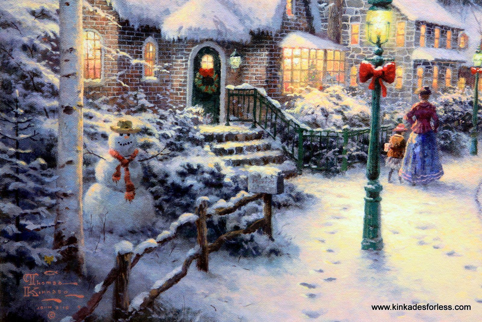 Xmas Stuff For > Thomas Kinkade Christmas Tree Wallpapers