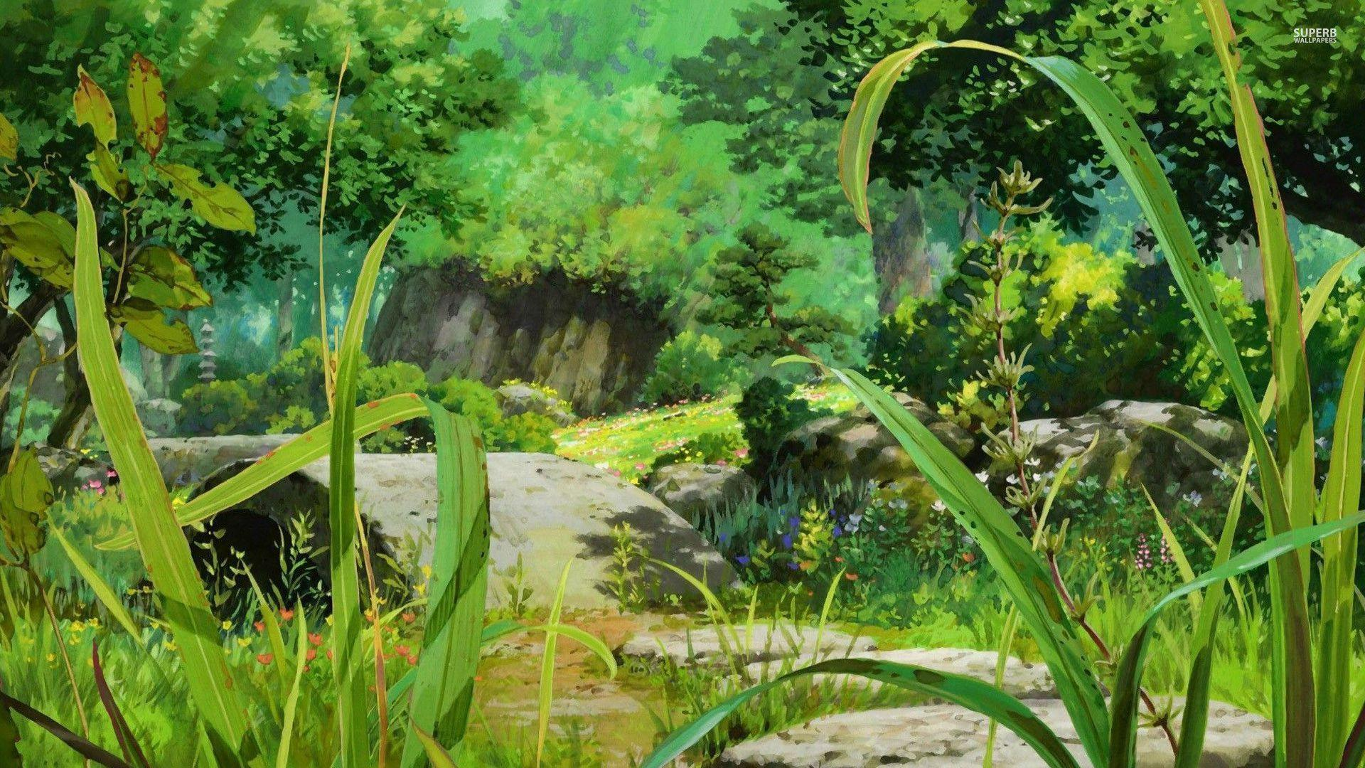 Pix For > Anime Background Forest