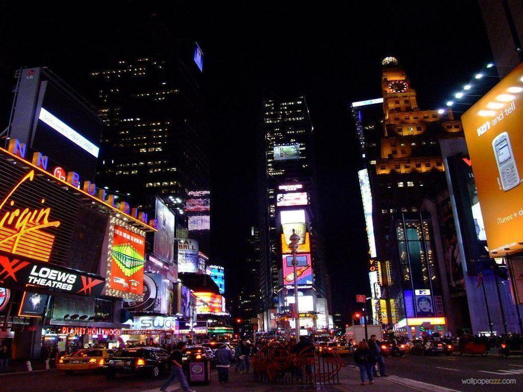 Night Times Square New York HD Wallpaper for Desktop 7345 - smakkat.