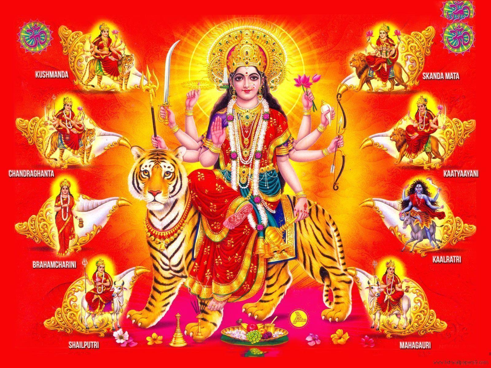 Durga Matha wallpapers backgrounds - Hindu god goddess wallpapers ...