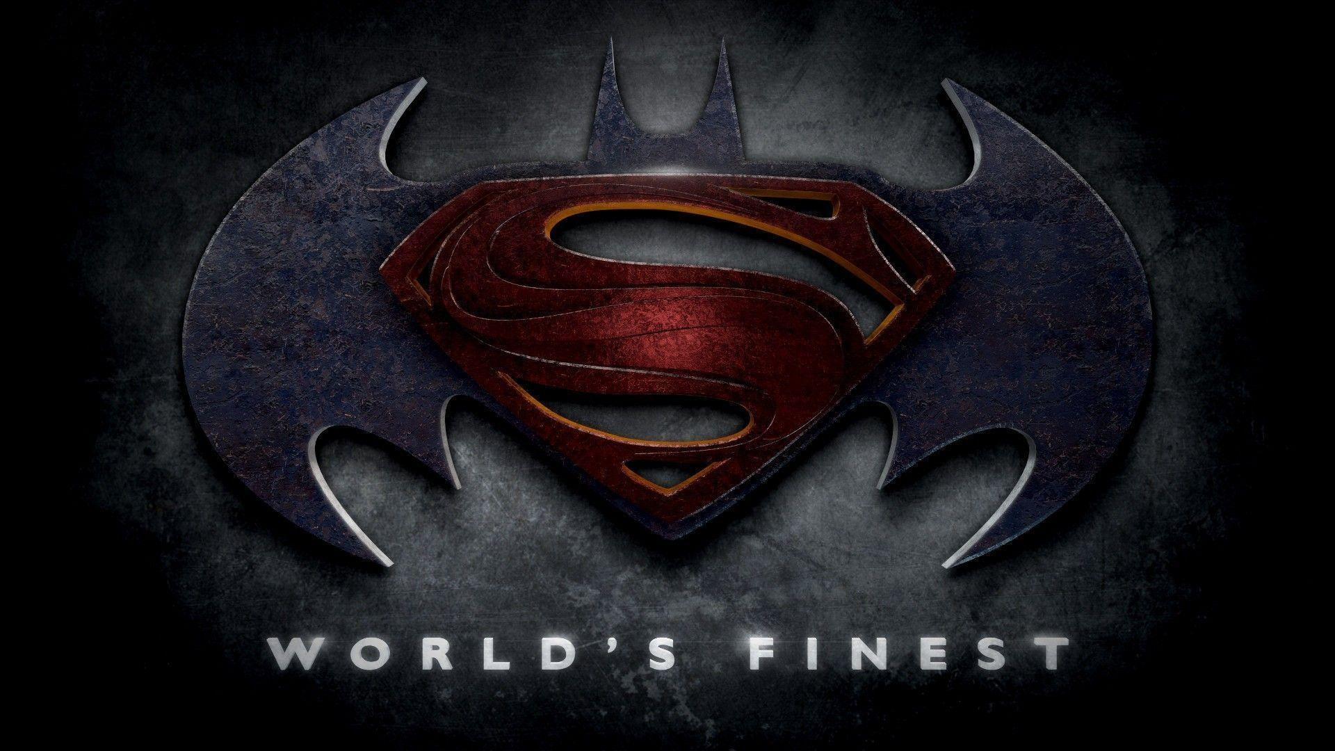 superman and batman logo wallpapers wallpaper cave