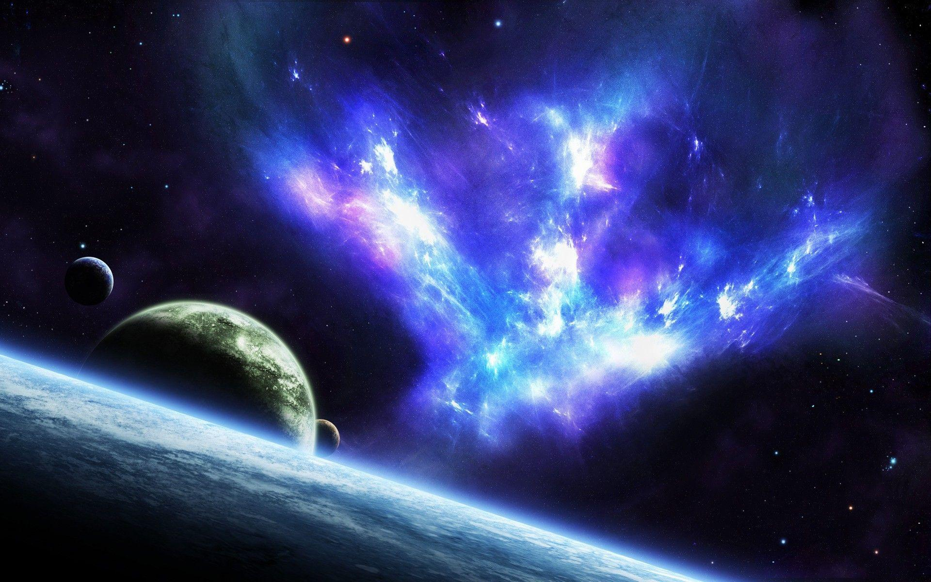 Blue Space wallpaper - 998755