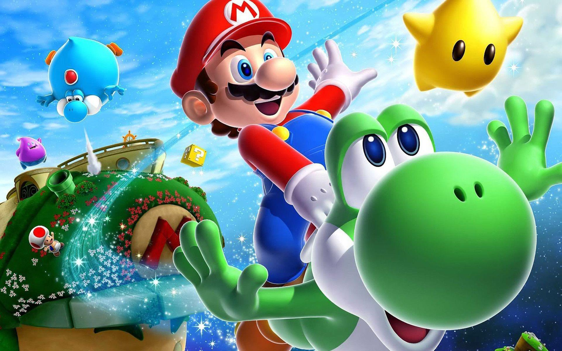 Mario Galaxy Wallpaper 16149 Hd Wallpapers in Games - Telusers.com