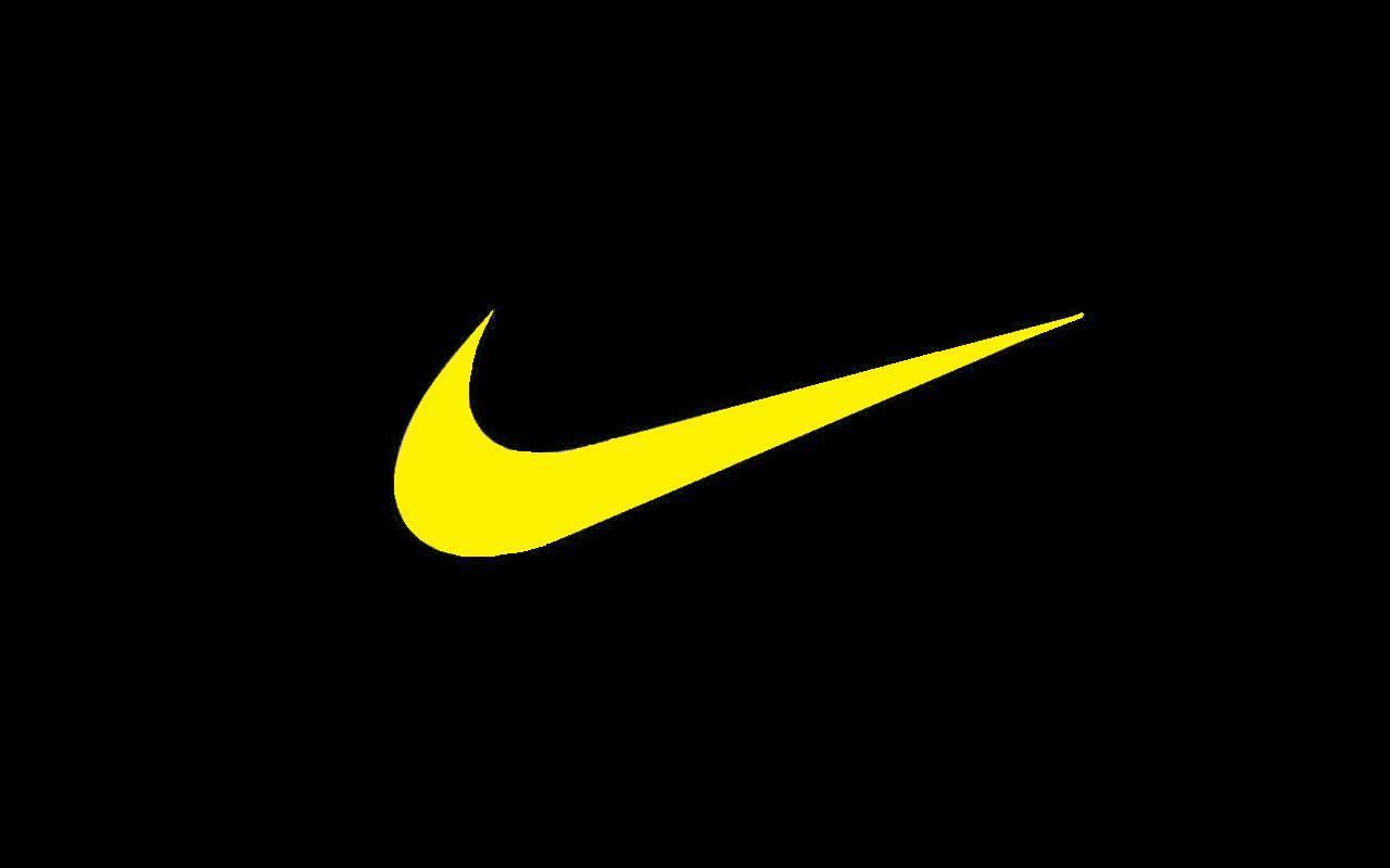 Nike Yellow Swoosh Check Abstract 3d And Cg wallpapers #