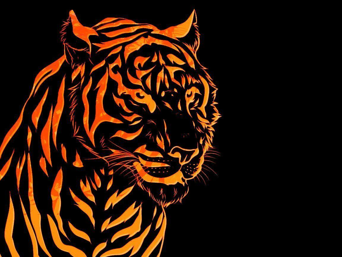 Fire Tiger wallpapers by KRThompsonART