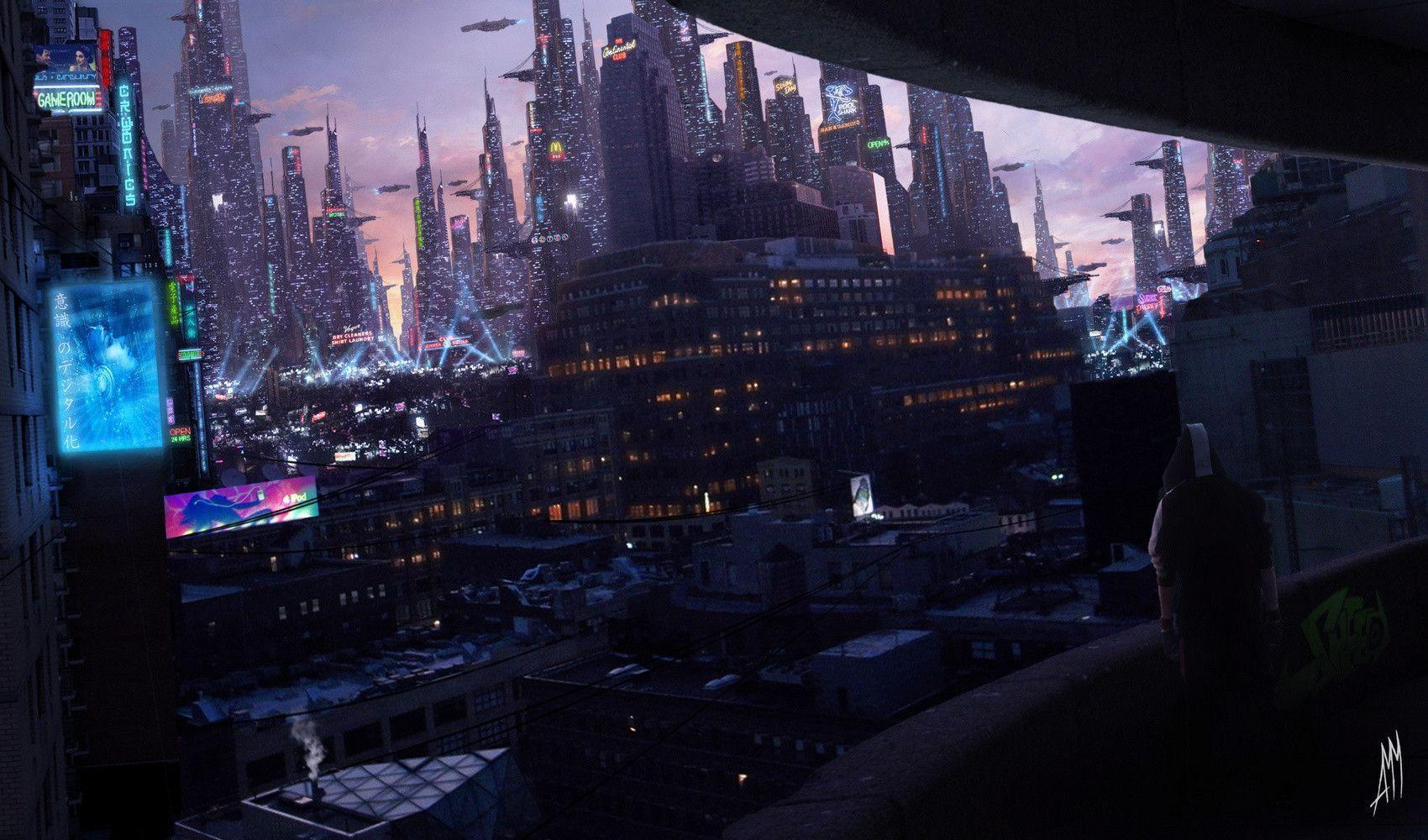 cyberpunk city hd wallpapers - photo #13
