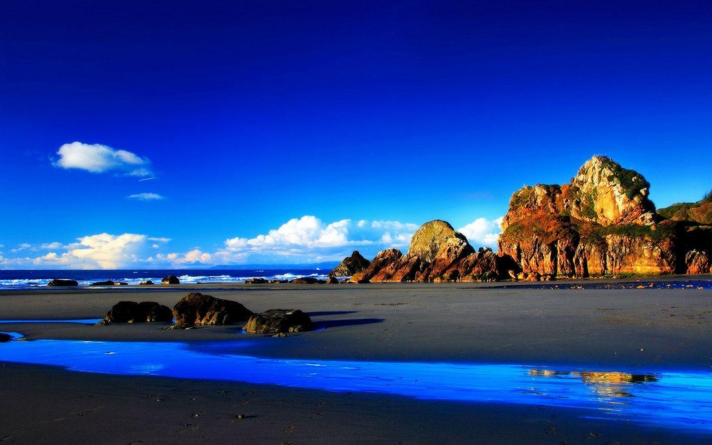 Wallpapers Rocky Beach Desktop Wallpapers: 1440x900 HD Wallpapers