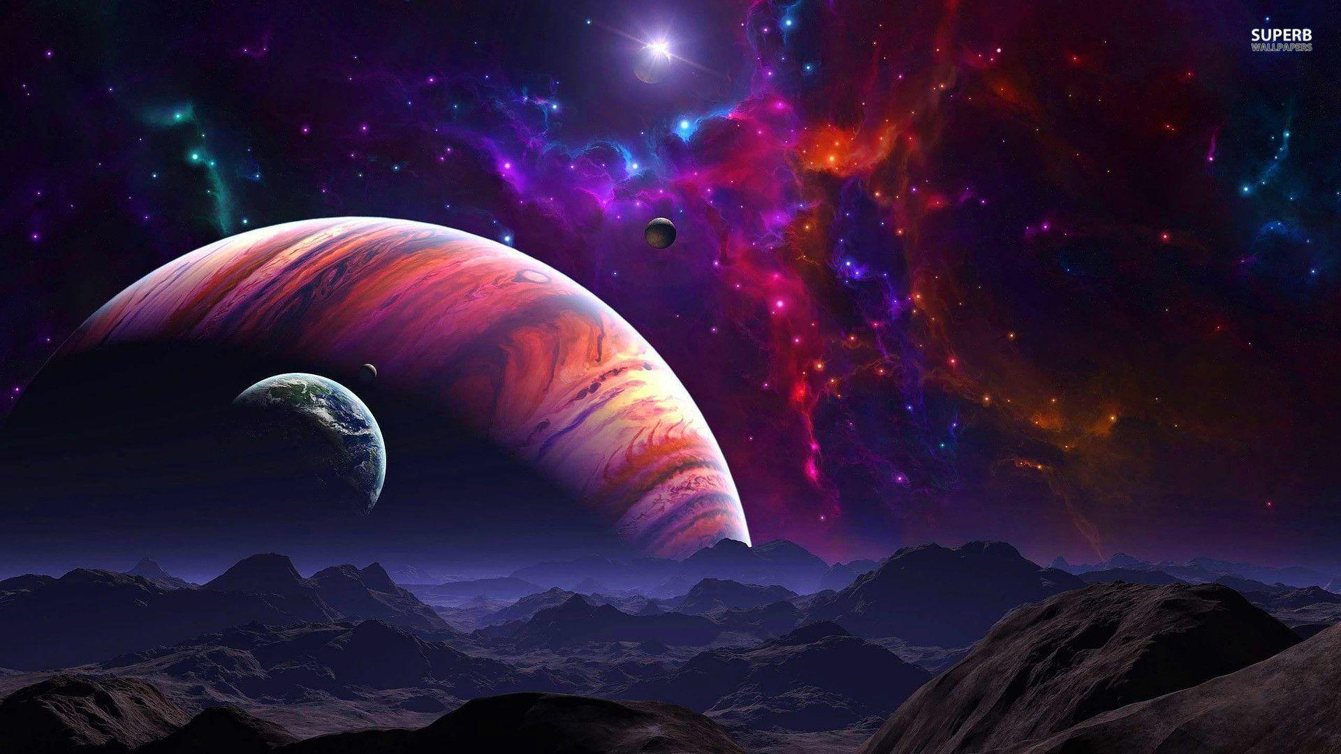 Purple Space Wallpaper 1920X1080 Pictures 5 HD Wallpapers