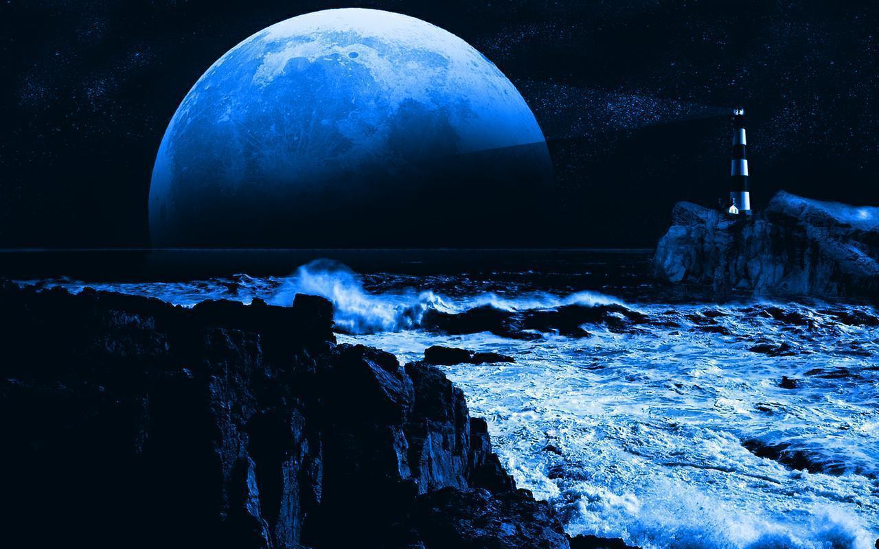 blue moon wolf wallpaper - photo #16