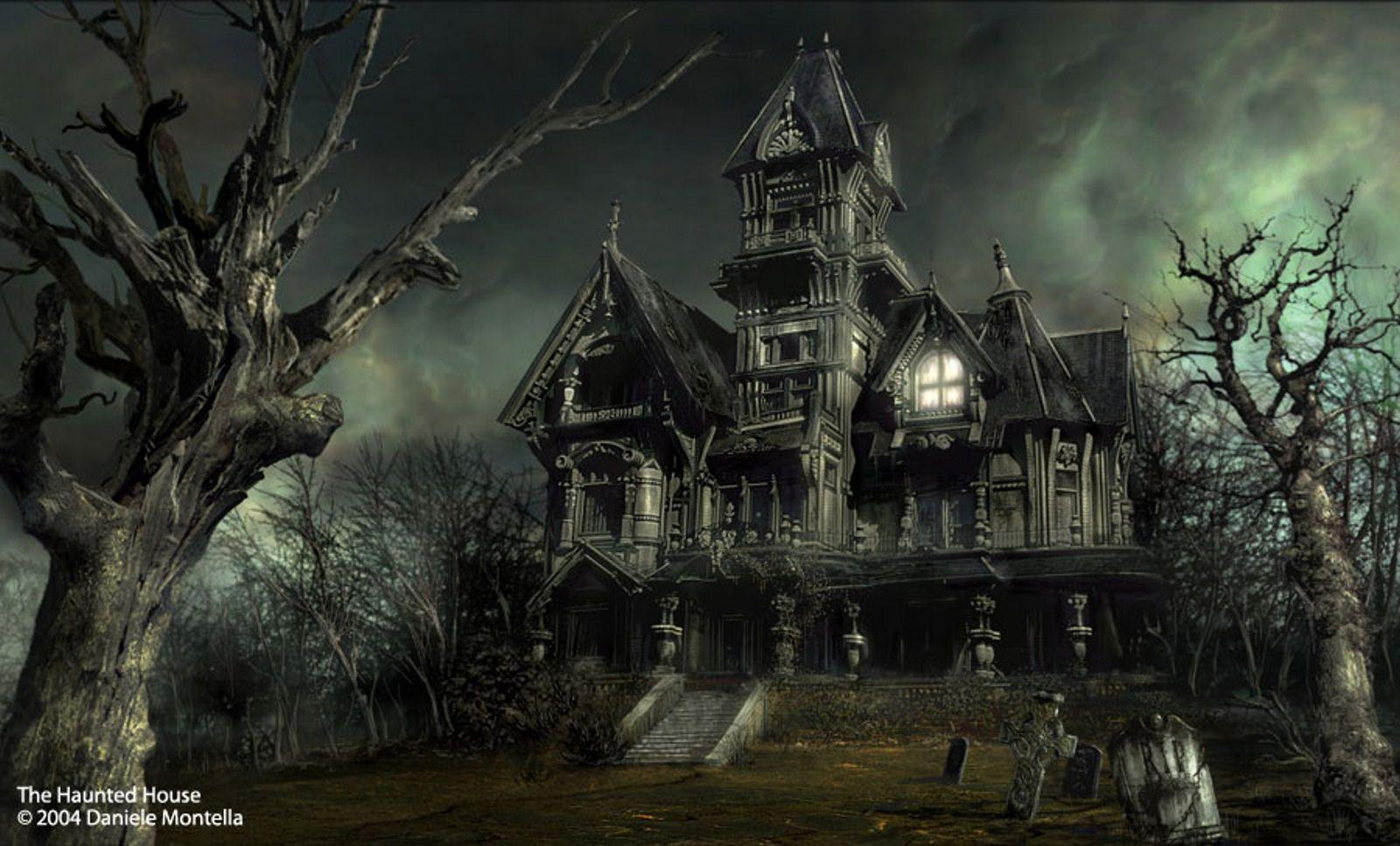 Halloween Haunted House Wallpapers Wallpaper Cave