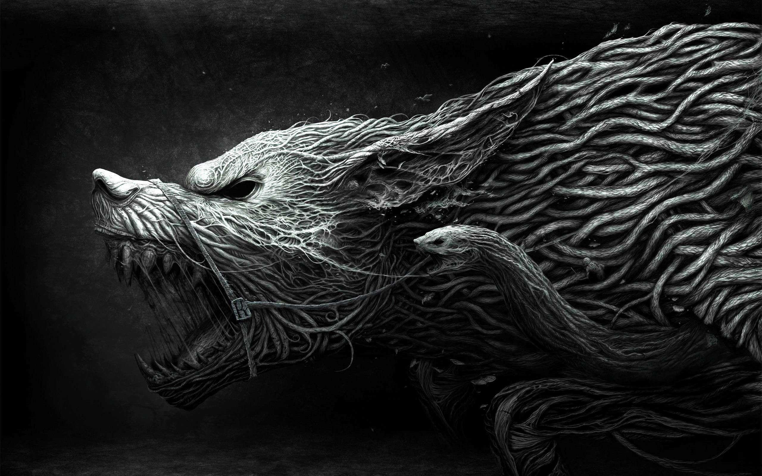 Wallpapers For > Black Wolf Wallpapers Widescreen
