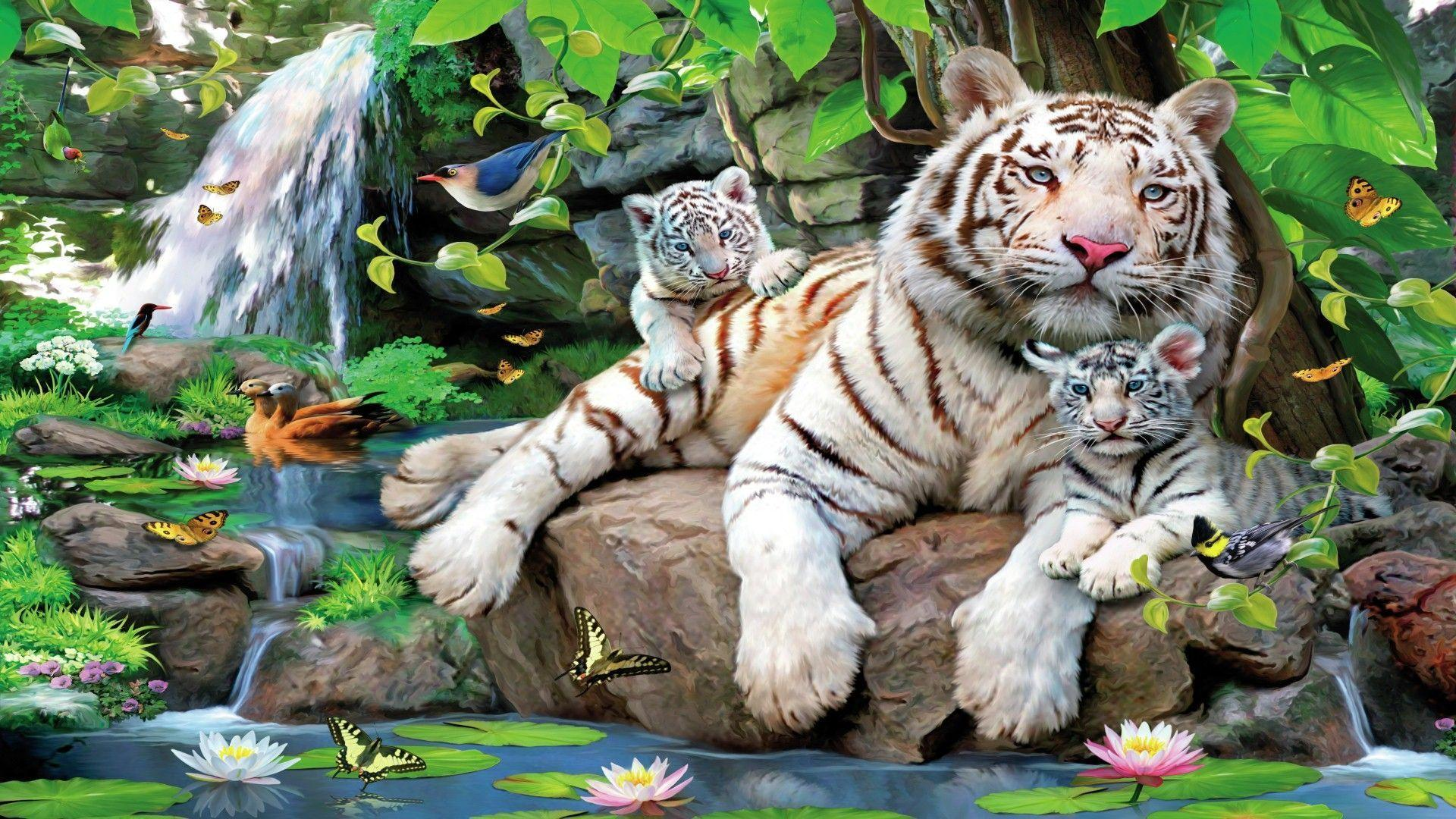 White tiger cubs wallpapers wallpaper cave - Tiger hd wallpaper for pc ...