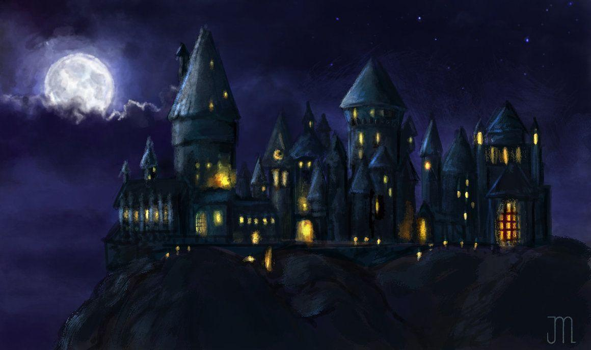Pix For > Hogwarts Castle Night Wallpapers