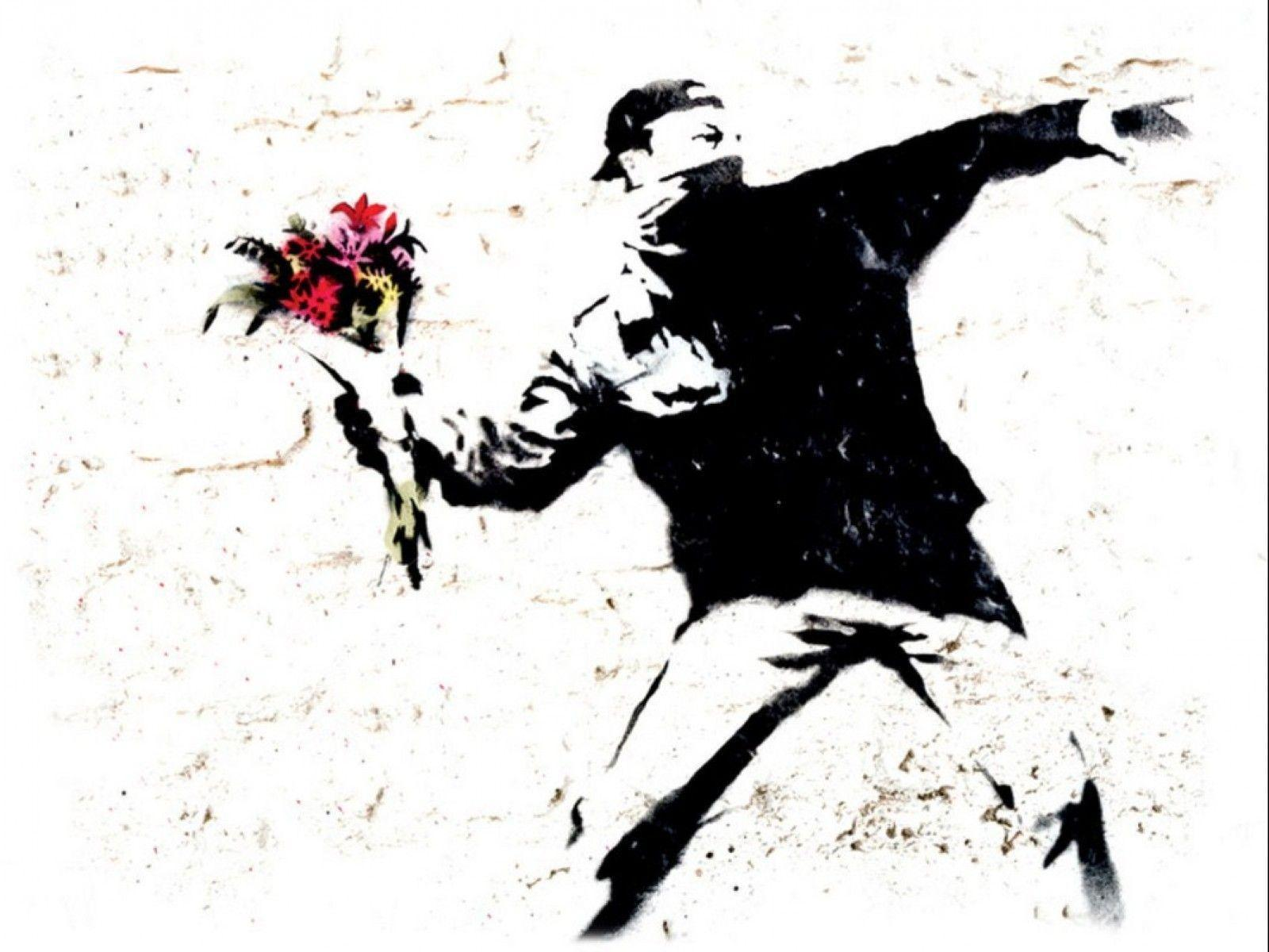 Banksy wallpapers wallpaper cave for Wall art wallpaper