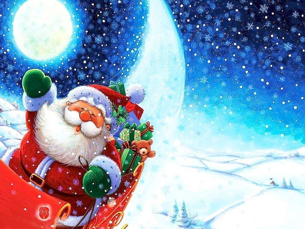 Happy Santa Claus Ipad Wallpaper HD Free Download Photo 45000