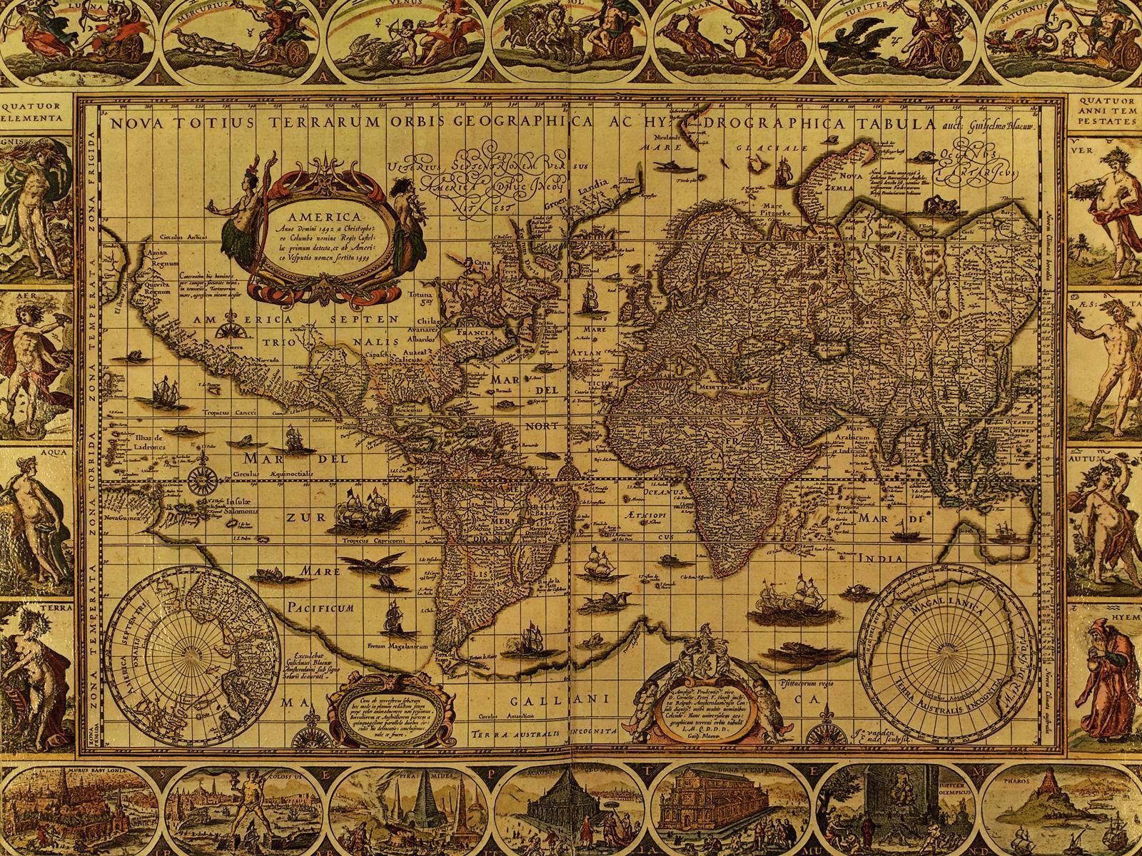 Vintage map wallpapers wallpaper cave for Antique mural wallpaper