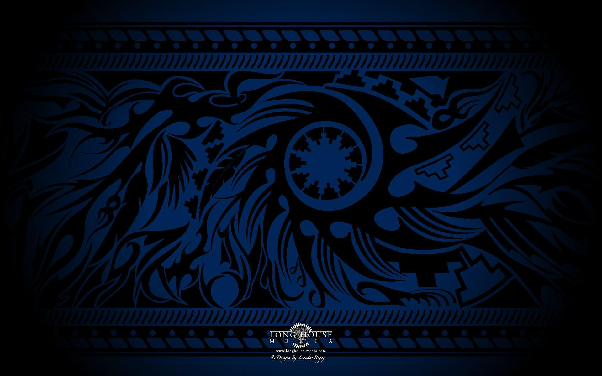 Blue Tribal Wallpapers - Wallpaper Cave