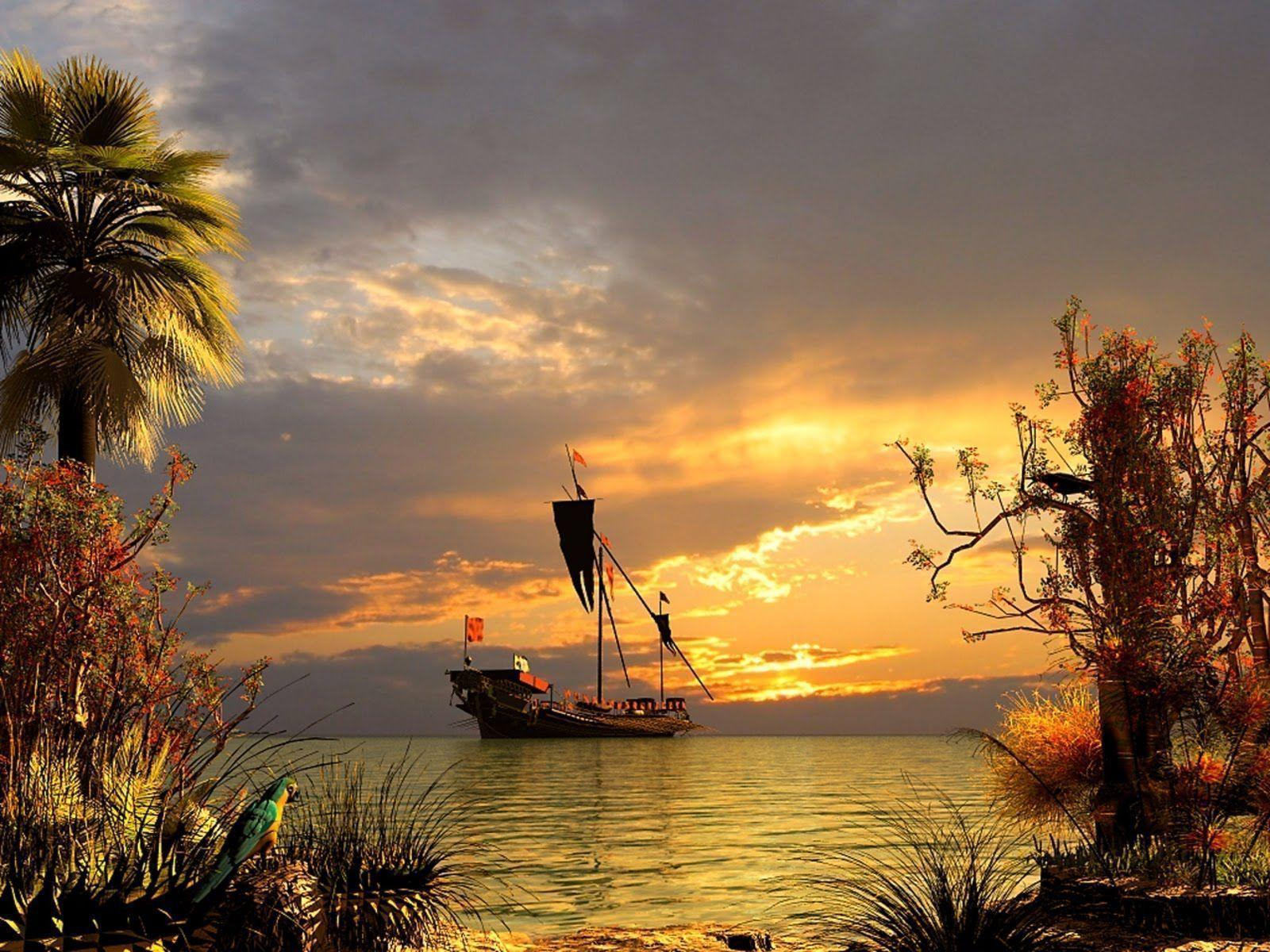 pirate ship computer wallpapers - photo #23