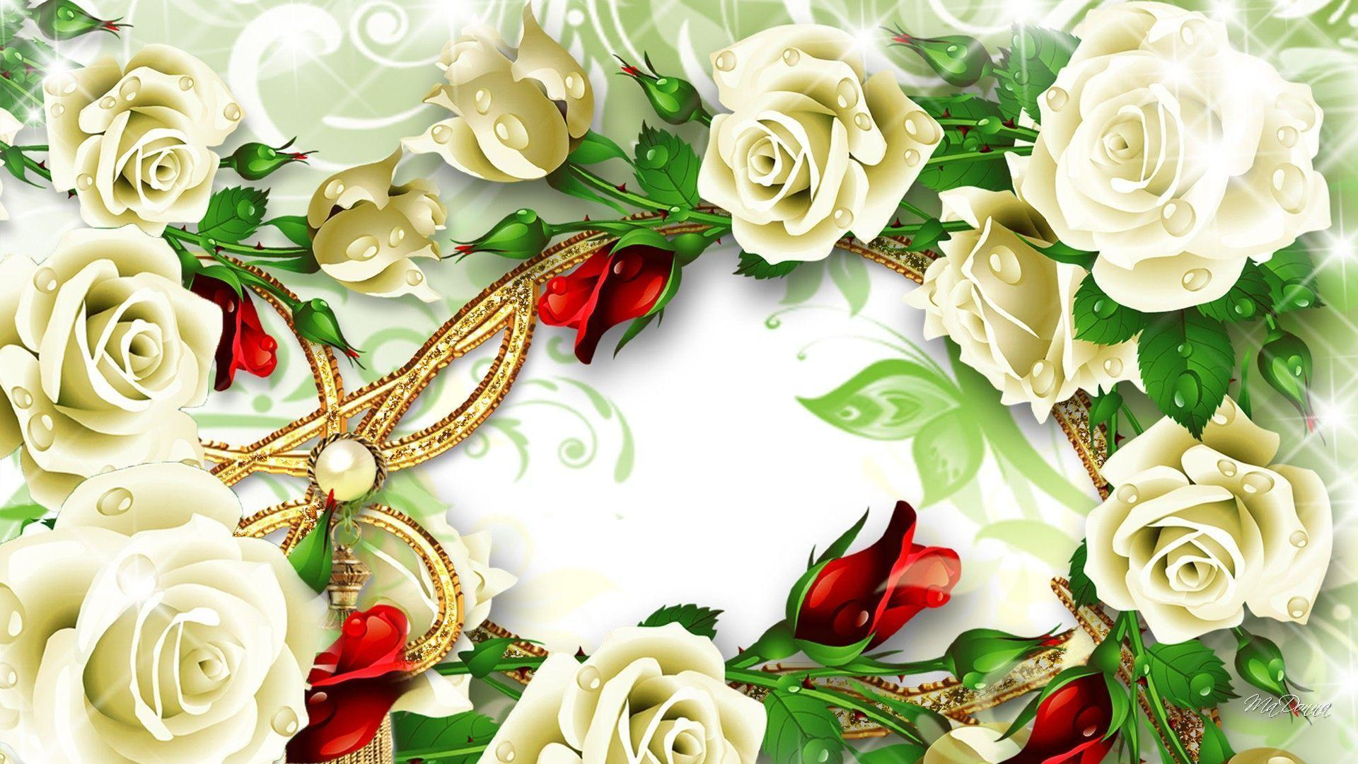 White Roses Backgrounds