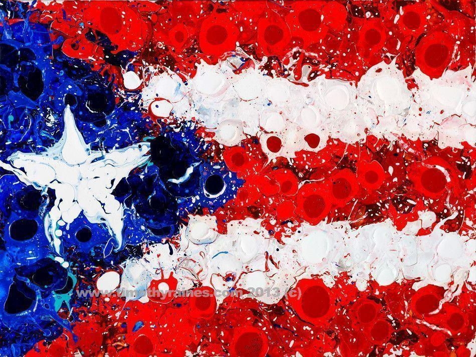 Puerto Rico Flag Button On Abstract Light Backgrounds Original