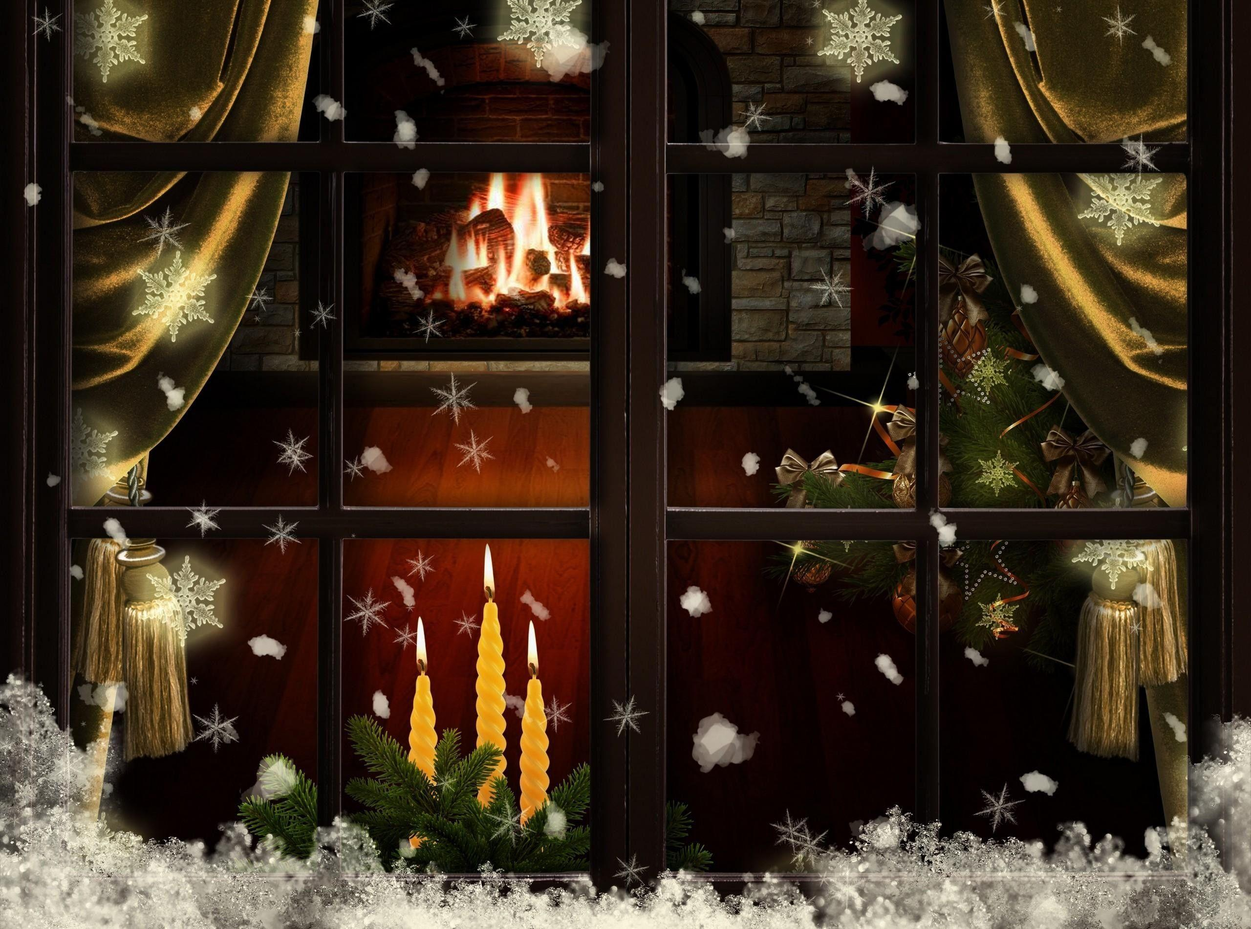 christmas fireplace wallpapers wallpaper cave. Black Bedroom Furniture Sets. Home Design Ideas