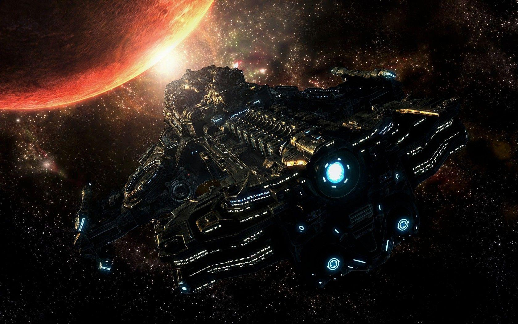 Wallpapers For > Spaceship Wallpaper