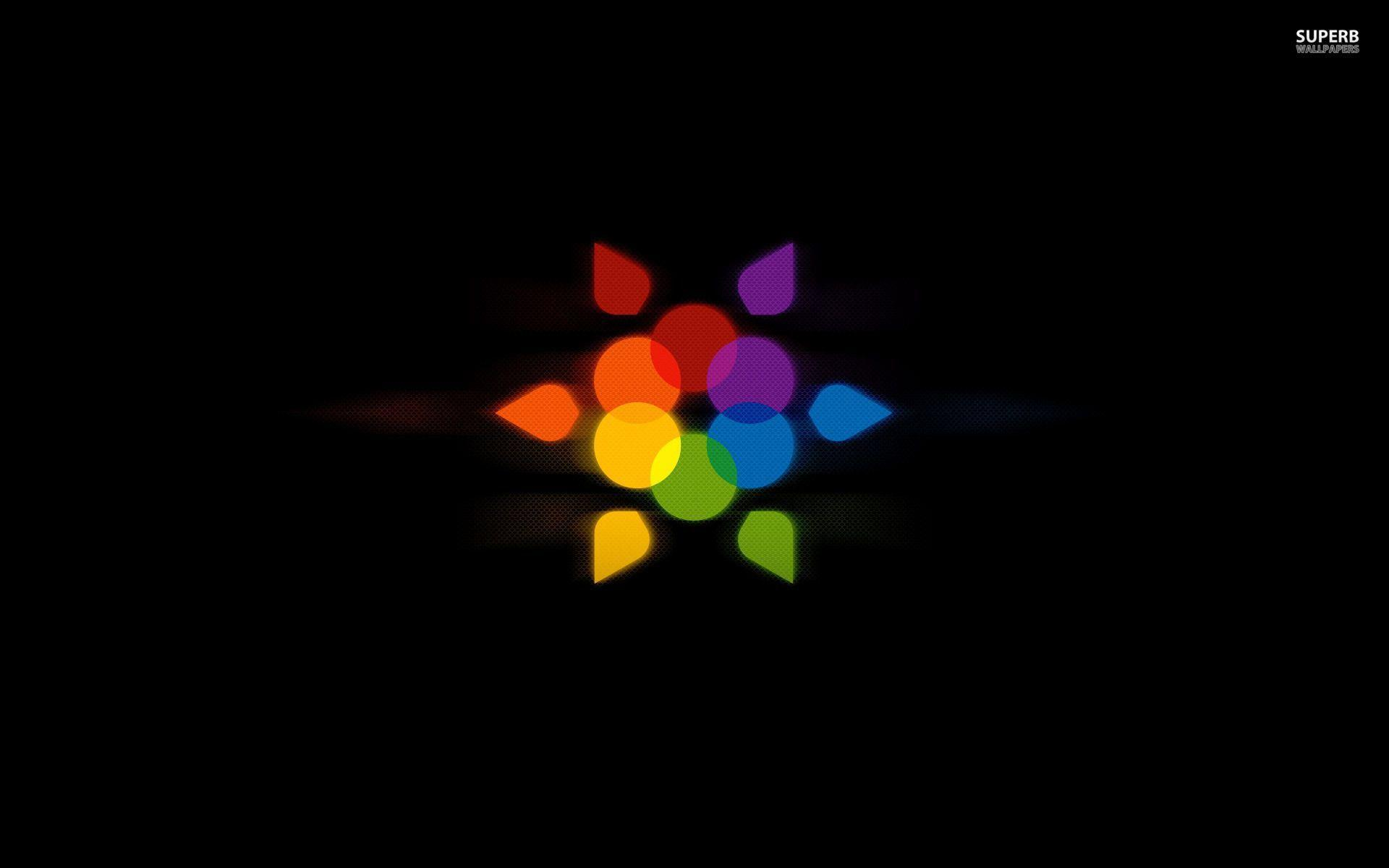 rainbow flower background - photo #26
