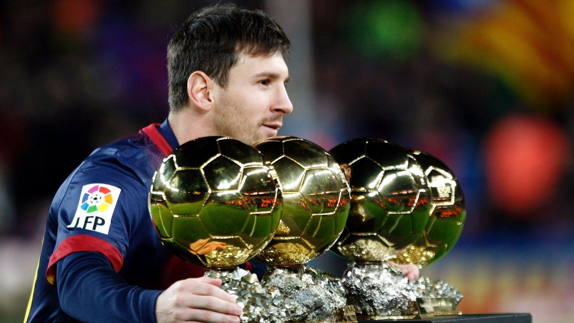 Lionel Messi Balon Dor - Wallpaper HD