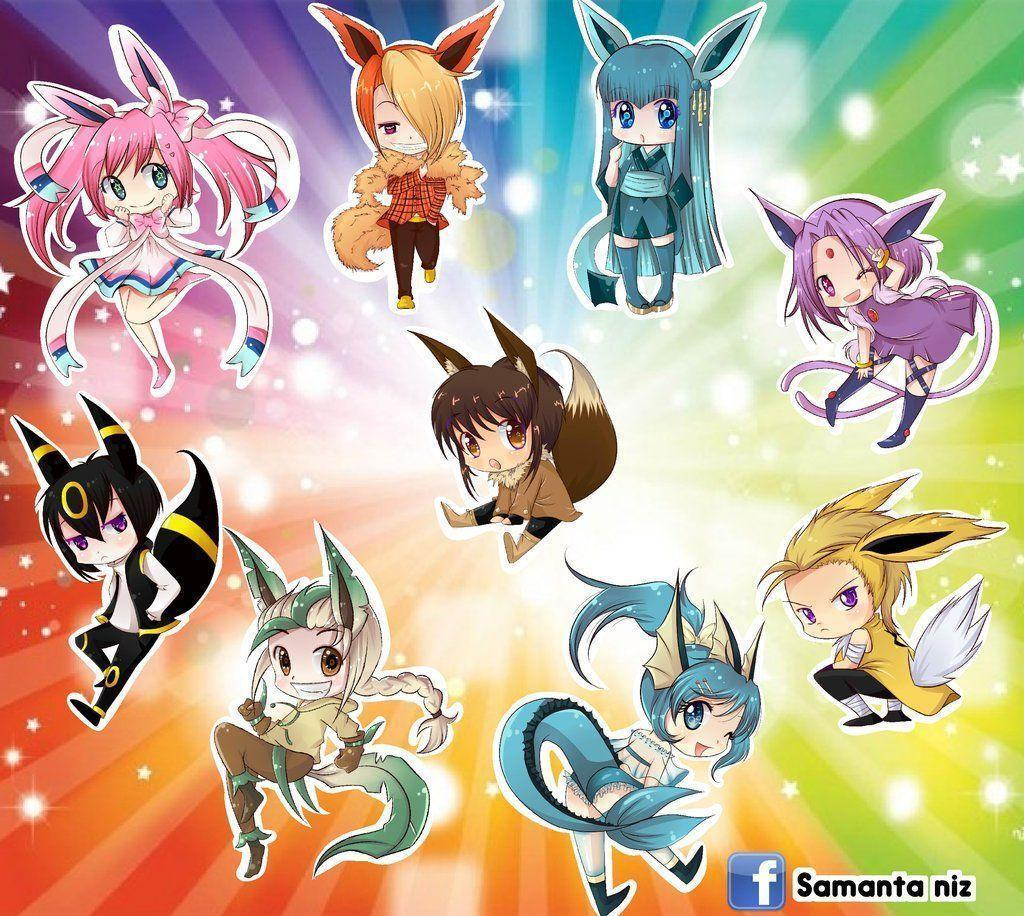 Chibi Eevee Evolutions Wallpaper Images & Pictures - Becuo