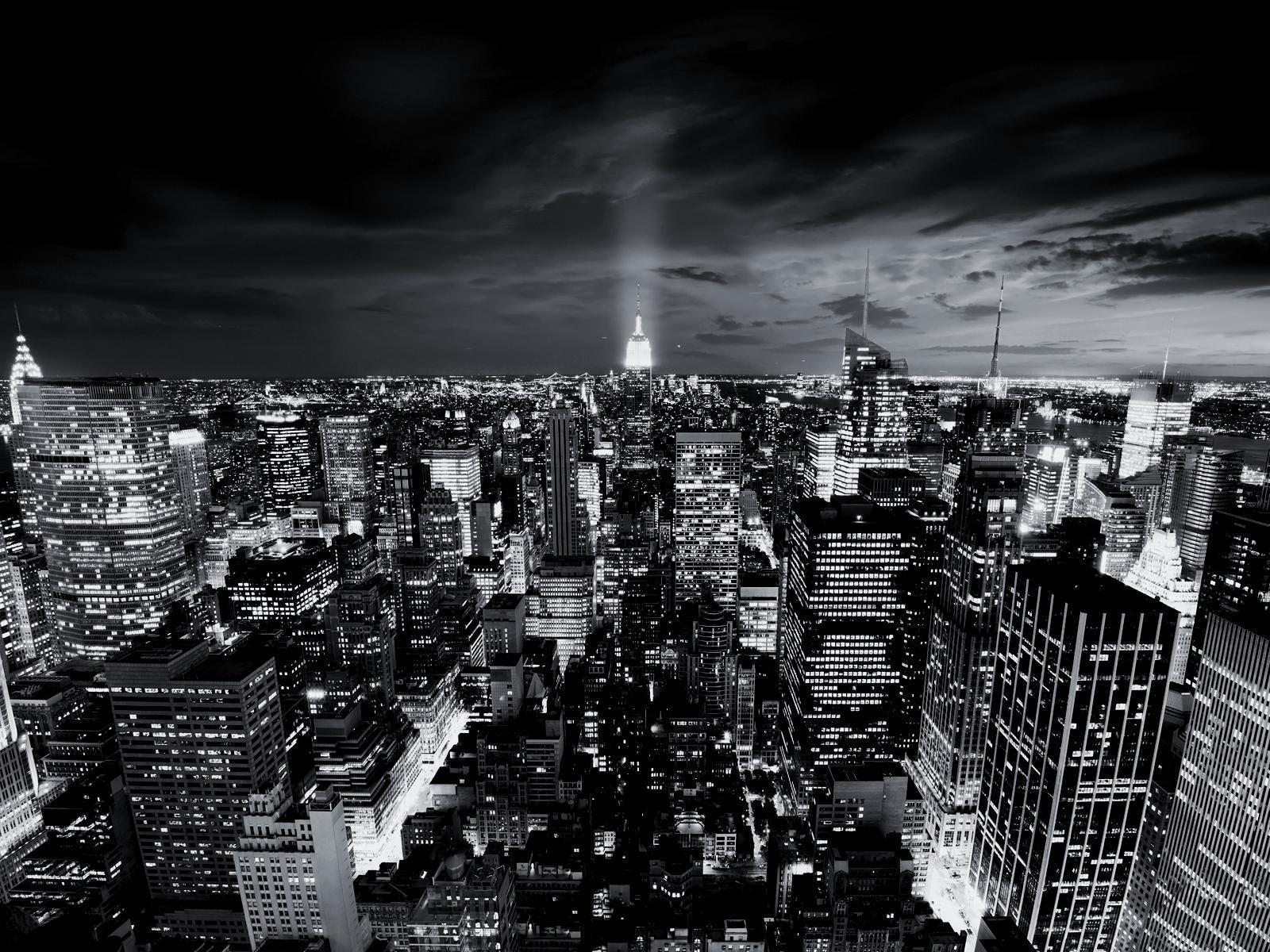 Black and White City That Never Sleeps wallpapers