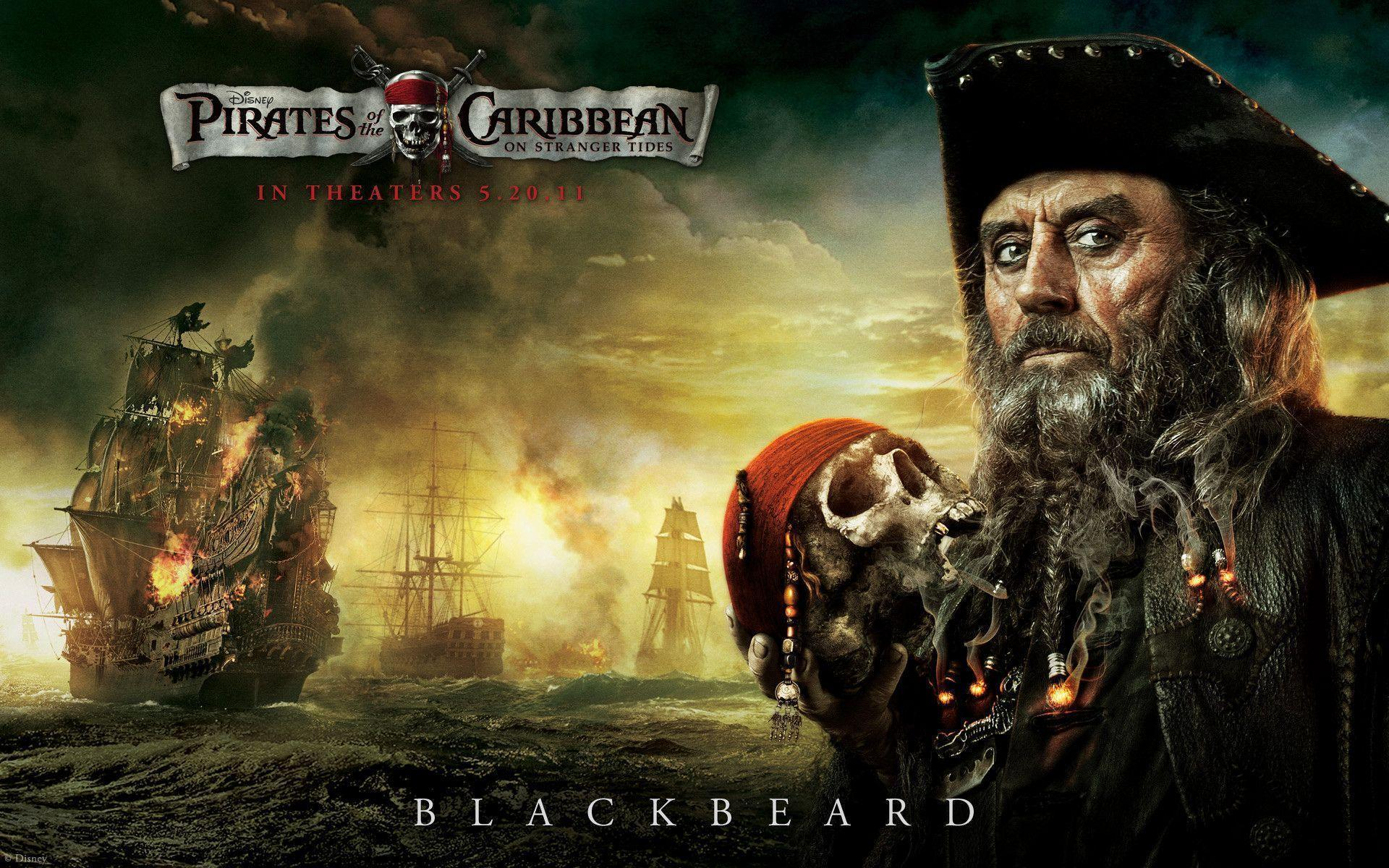 Blackbeard from Pirates of the Caribbean Desktop Wallpapers