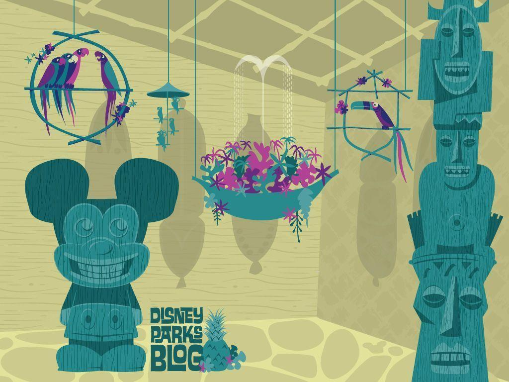Free Disney Summer Wallpaper: Tiki Wallpapers