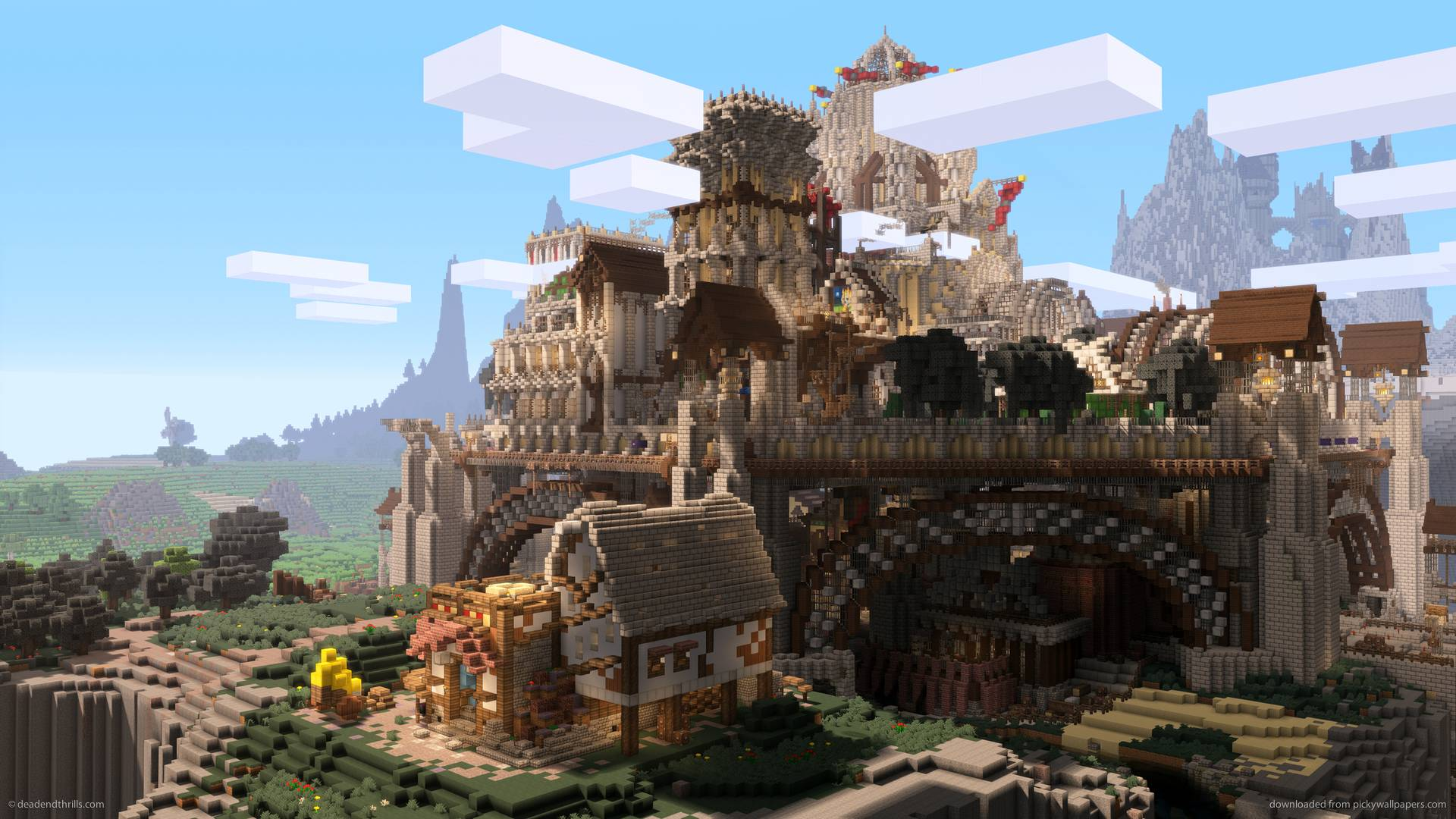 Download 1920x1080 Minecraft Ramparts Wallpapers