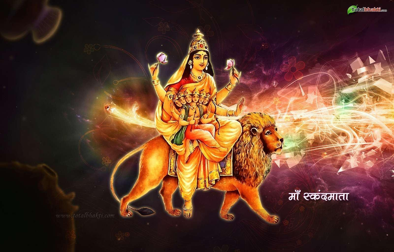 Durga Hindu Skandmata Pink HD God Image,Wallpapers & Backgrounds