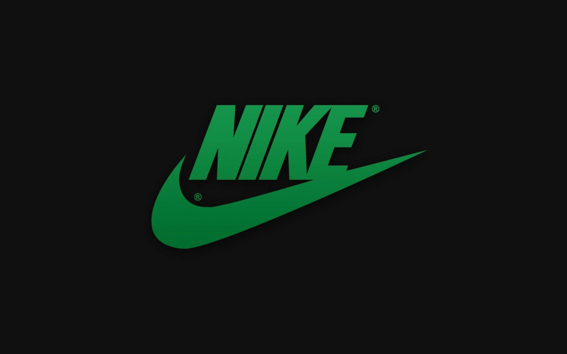 Green lime nike logo wallpaper
