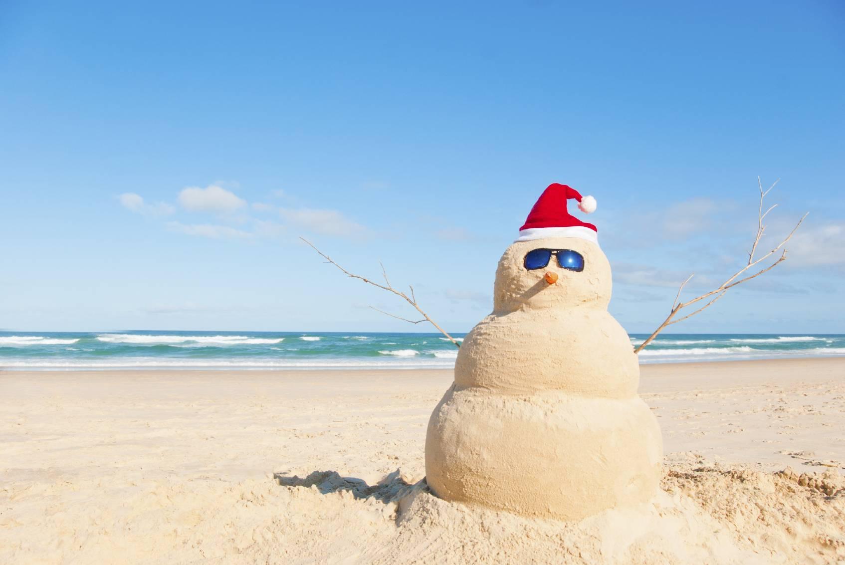 Permalink to Desktop Wallpaper Beach Christmas