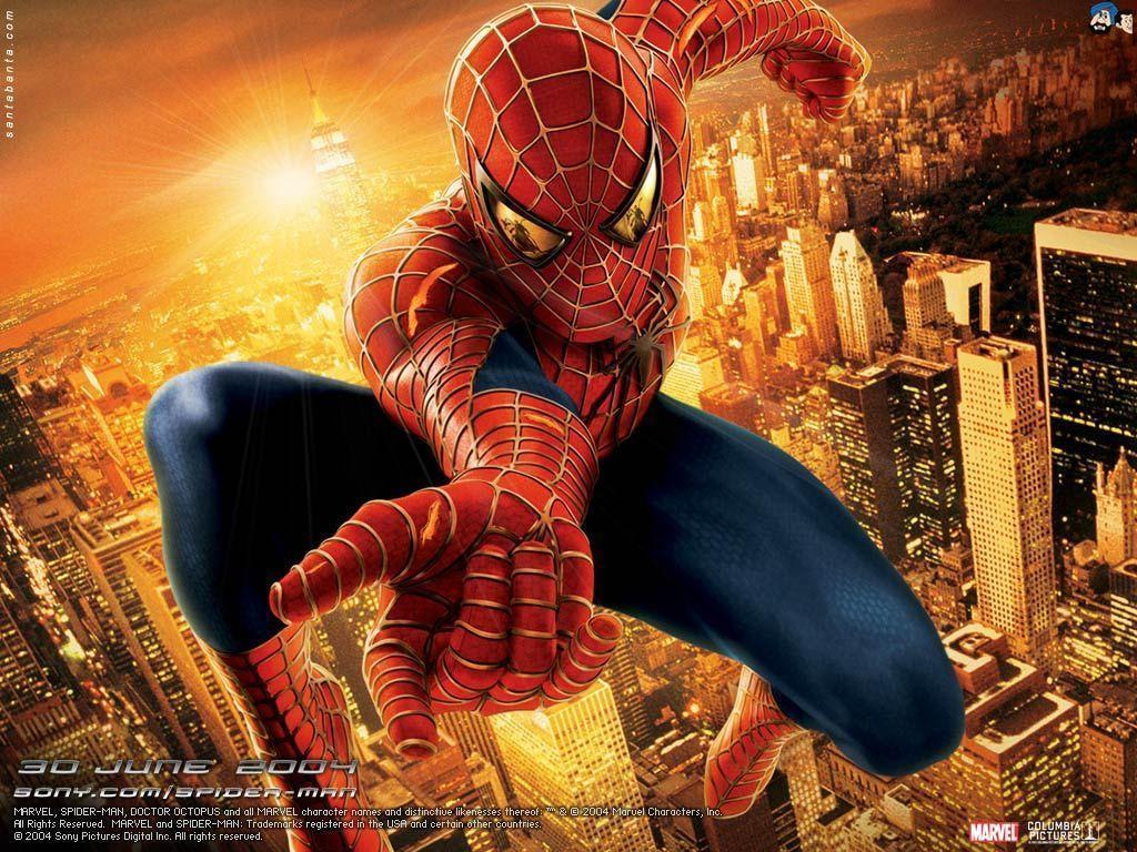 Spiderman Movie poster wallpapers backgrounds in 1024x768 resolution