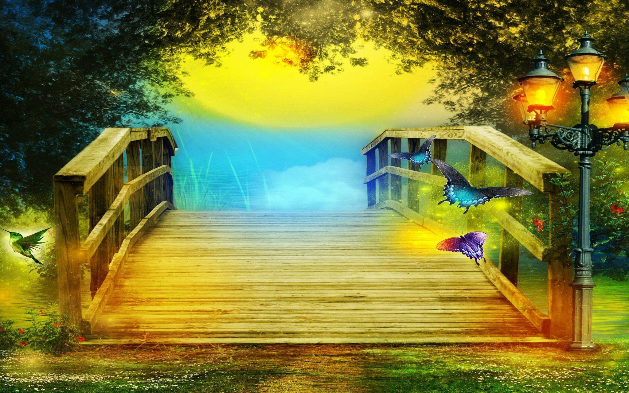 Fantasy butterfly wallpapers wallpaper cave - Fantasy wallpaper bridge ...
