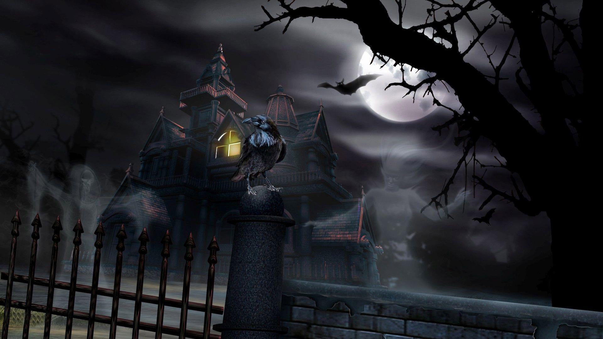 com wallpapers halloween house windows - photo #4