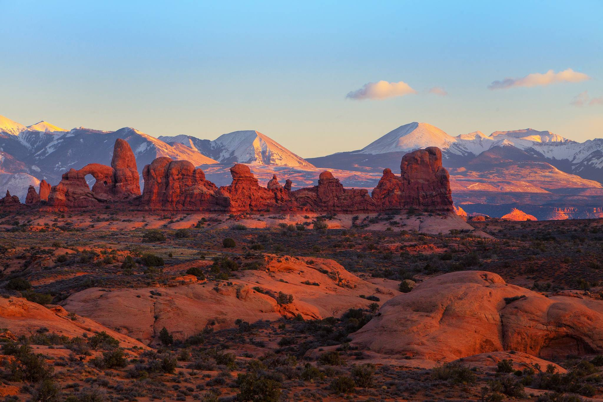 Download wallpapers Utah, Arches National Park, tower arch
