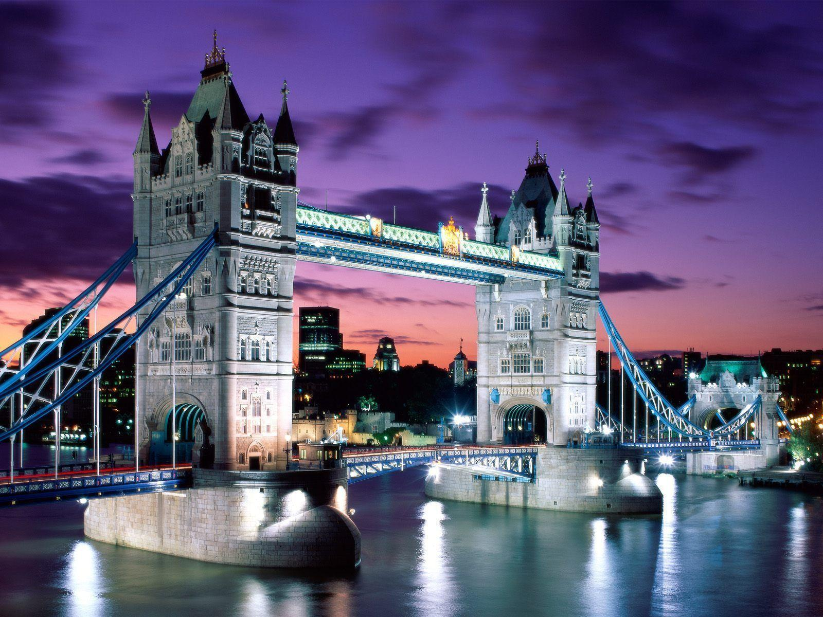 London Evening, Tower Bridge, England Wallpapers