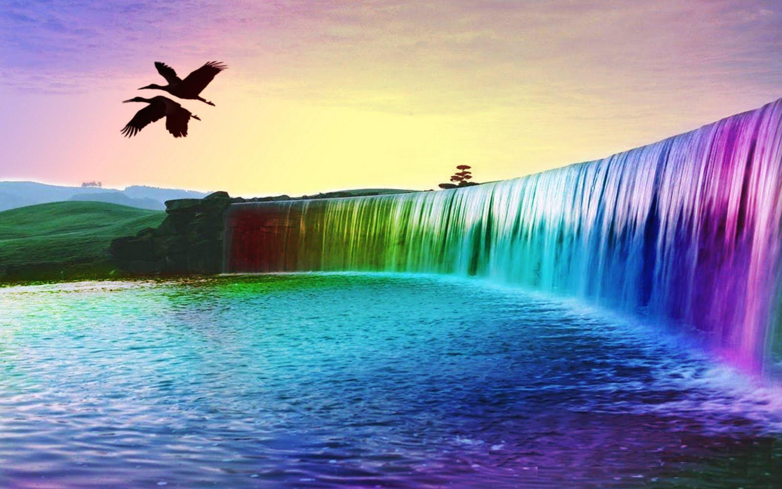 3D Waterfall Desktop Backgrounds Widescreen Wallpapers 1920x1080