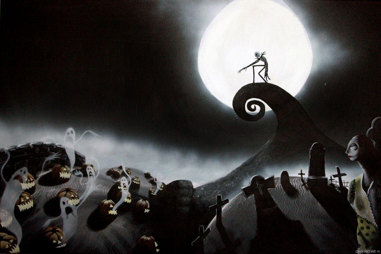 Image For > Nightmare Before Christmas Graveyard Backgrounds