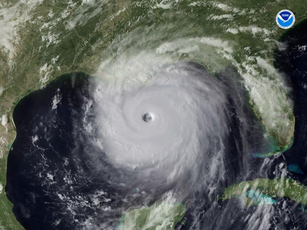 Photos: Hurricane Katrina From Space   Space  Hurricane Katrina Satellite Thermal