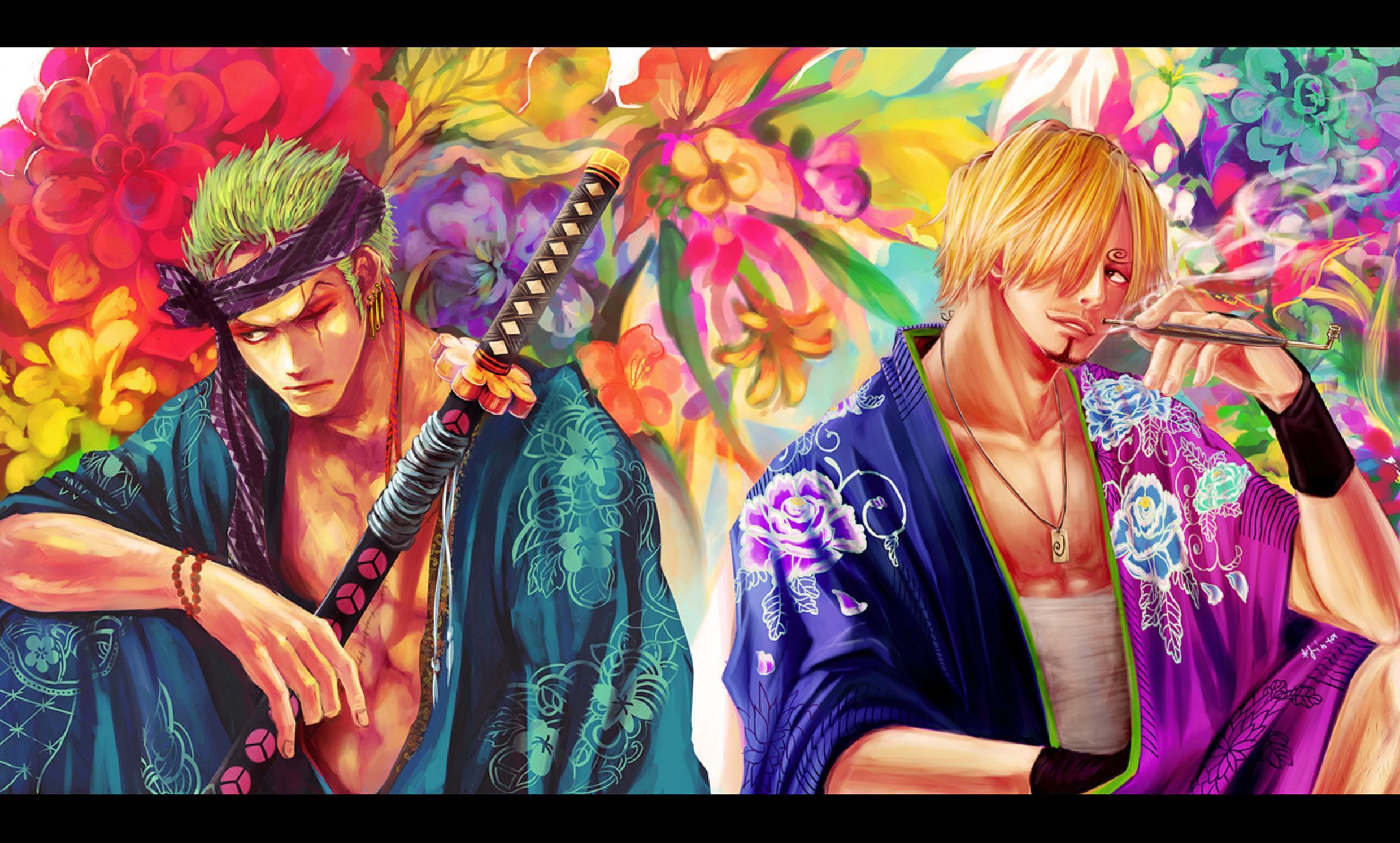 Zoro One Piece Time Skip Sanji Wallpapers - Wal...
