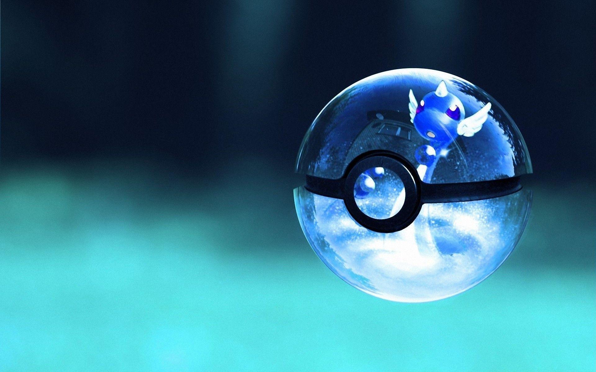 Pokemon Glass Poke Balls Art Wallpaper